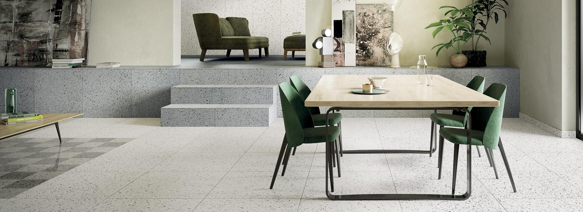 Gres porcellanato per interni ed esterni moderni fmg for Pavimenti moderni per interni